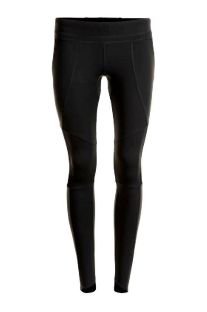 Women's long fitness tights (black)
