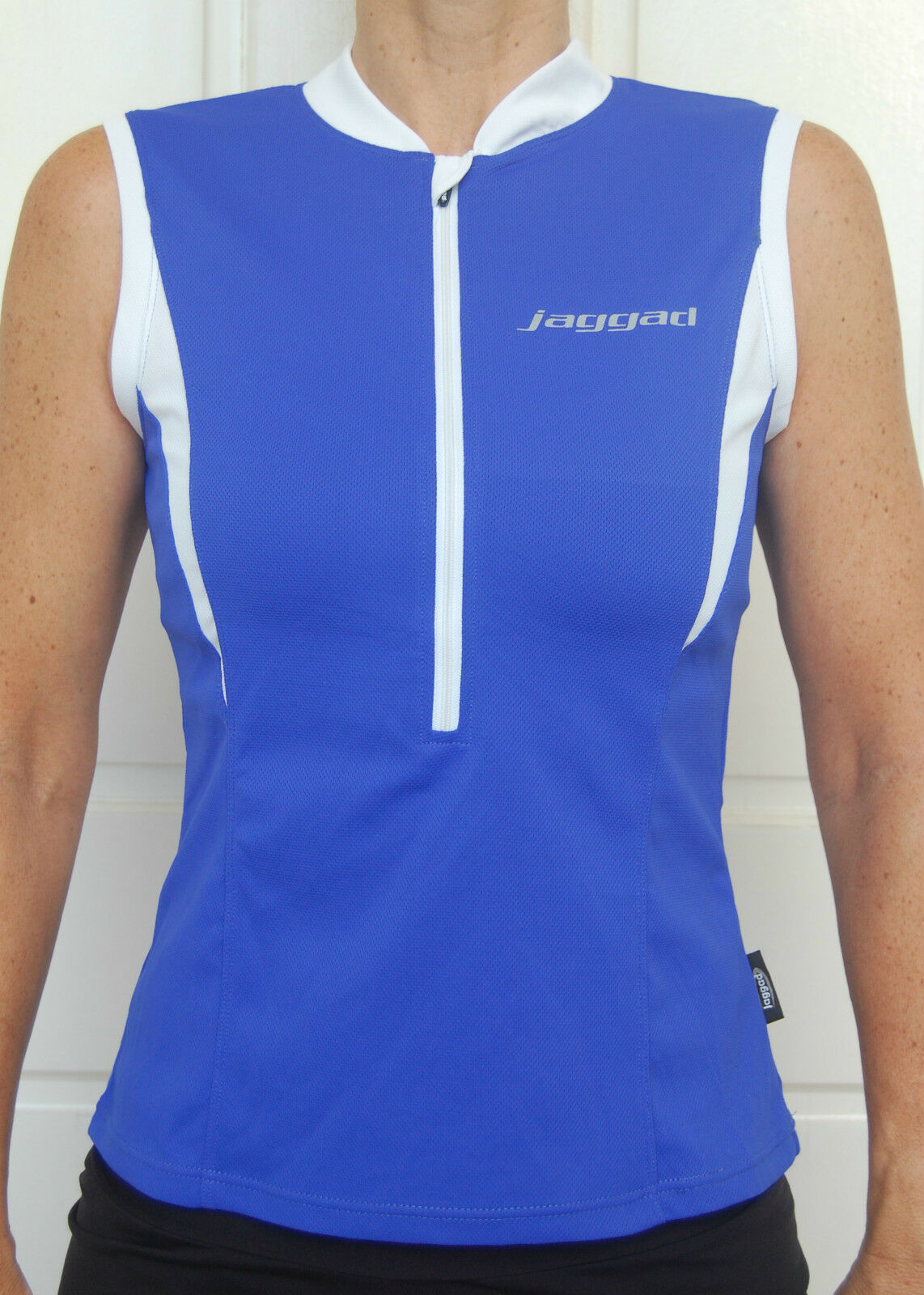 Cycling Bike Jersey Top sleeveless Womens Ladies Blue Jaggad S M L