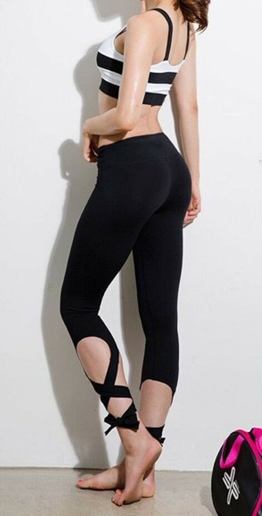 Active Wear Dance Yoga Gym Fitness Sport Running 3/4 Pants Tights Womens  #15