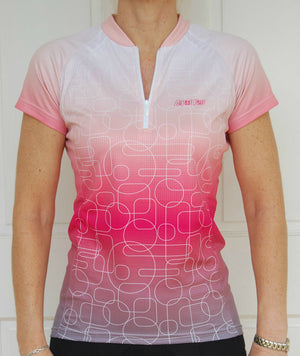 Sport, Cycling Bike, Clothing Ladies Women (Coral/White)