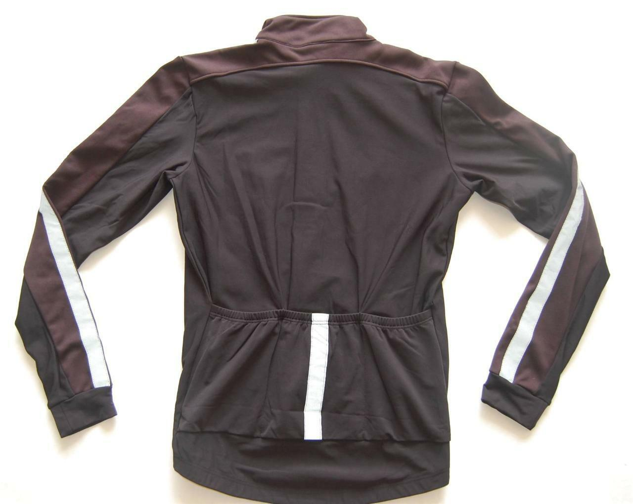 Jaggad Cycling Bike Fleeced Winter Windproof Reflector Jacket S M L XL XXL BLACK