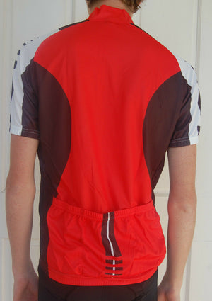 Cycling Sport Clothing Jersey Unisex (Red, Black & White)