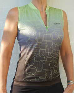 Sport, Cycling Bike, Clothing Jersey Top Sleeveless Ladies Women (Green) #223