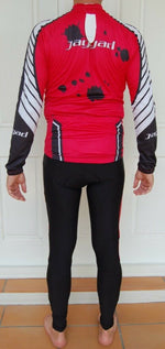 Sporting Clothing Cycling Bicycle Jersey Pants Knicks Kit Mens (Red, Black & White)