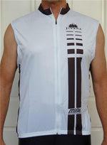 Cycling Sport Clothing Jersey Unisex (White & Black)
