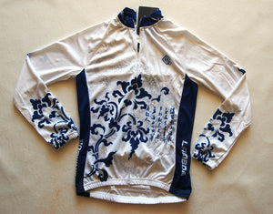 Lambda Long Cycling bike Knick Pants & Jersey Jacket set Women Ladies S -XL Blue