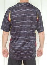 Sporting, Clothing, Cycling Bike Jersey Shirt Mens (Grey Black Spot)