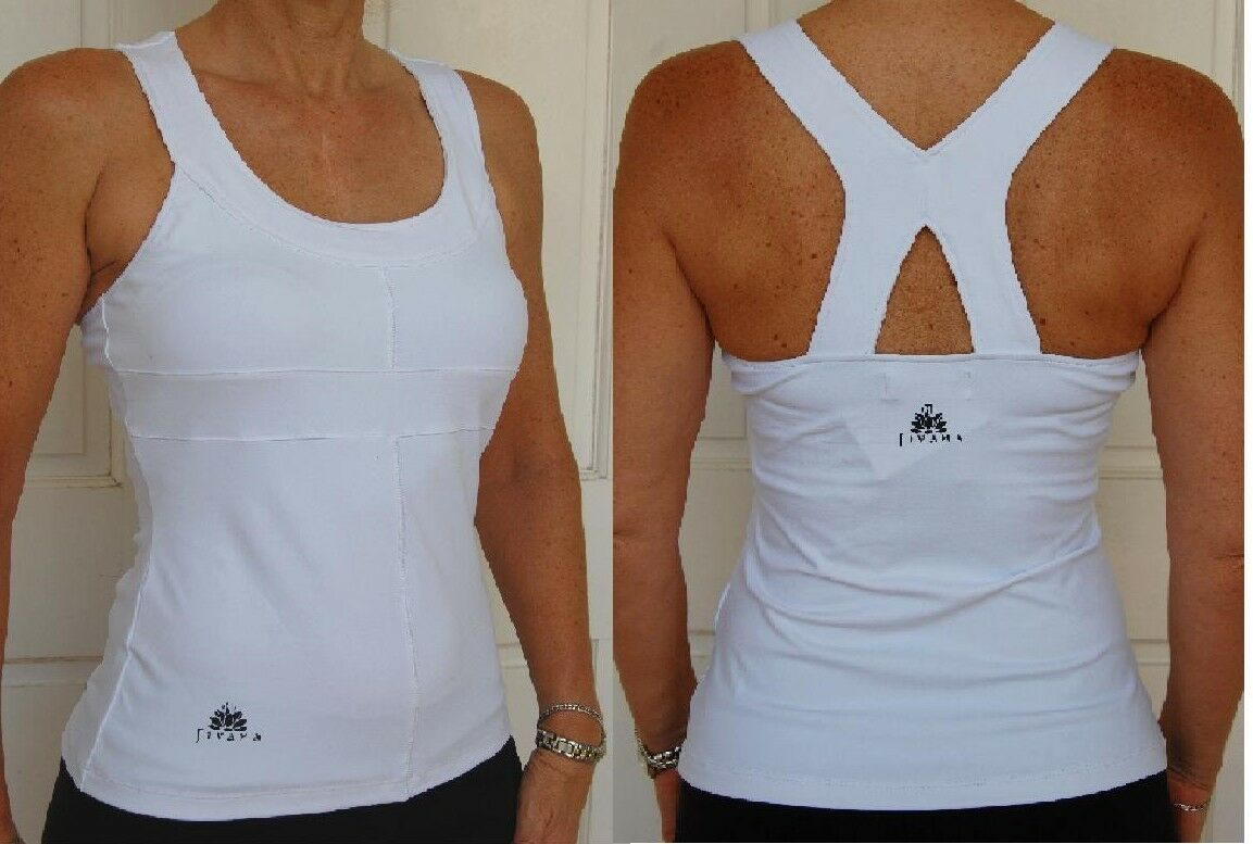 Sporting Clothing Gym Fitness Yoga Top Ladies Womens (White)*