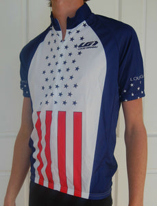 American US Short sleeve Cycling Jersey (Unisex)