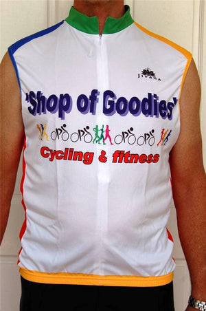 Sporting Clothing Cycling Bike Vest sleeveless Jersey Men (Multicoloured)