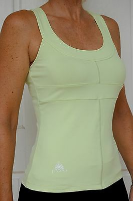 Sporting Clothing Gym Fitness Yoga Top Ladies Womens (Lime)*