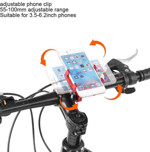Bicycle Bike Motorcycle Universal Mobile Phone Holder 360 Degree - Black or Red