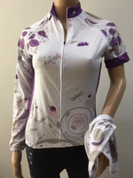 Ladies, Women Jersey/Jacket (White with Mauve print)