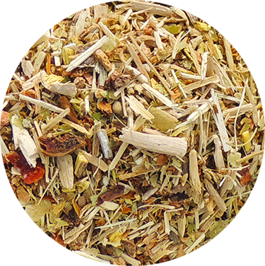 Adaptogen organic herbal tea with rhodiola and eleuthero in loose leaf