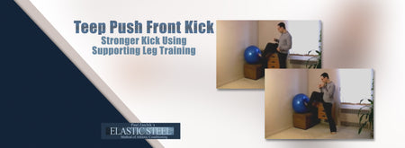 Teep Push Front Kick Stronger Kick Using Supporting Leg Training