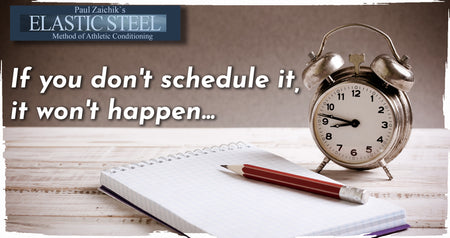 If you don't schedule it, it won't happen
