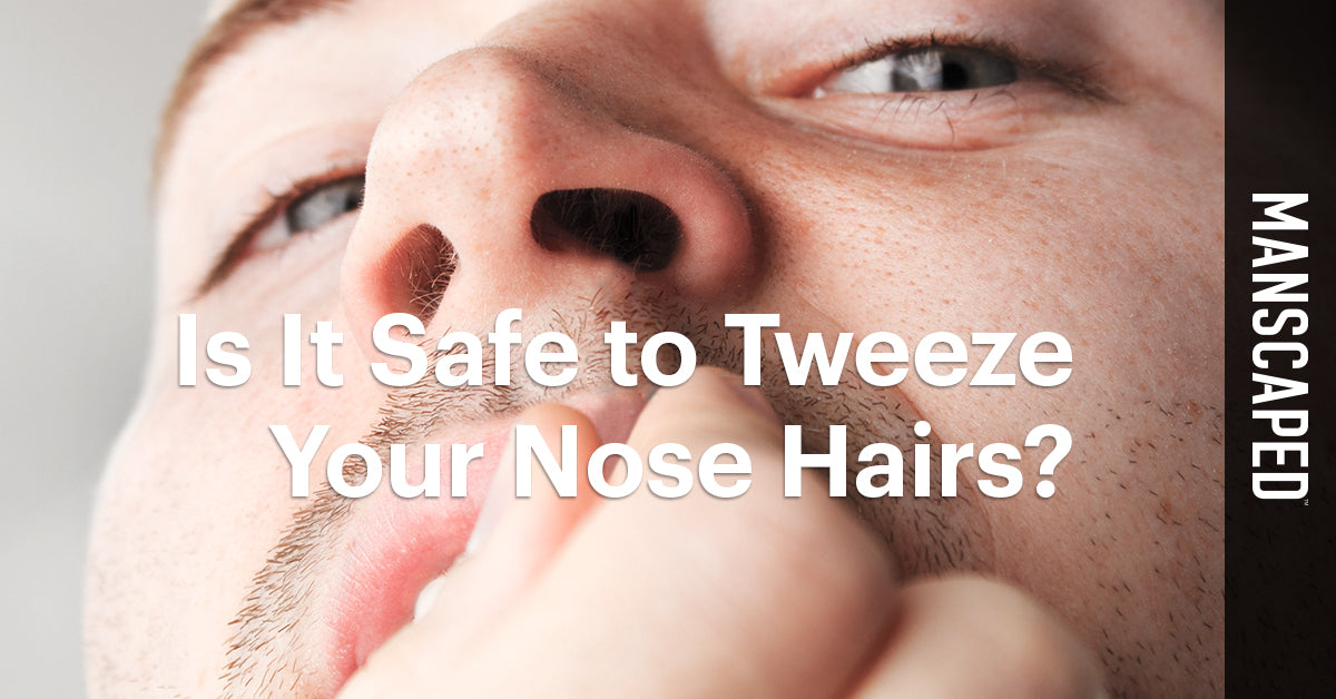 Plucking Nose Hairs Is It Safe To Tweeze Your Nose Hairs Manscaped