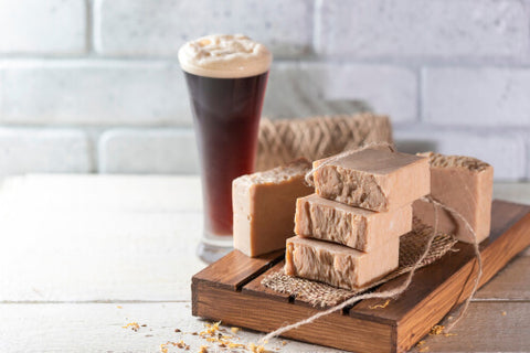 Pint Of Beer With Bars of Soap