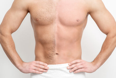 Man With Half Of His Body Waxed