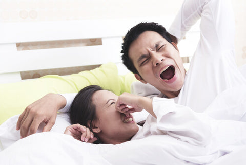 Man Yawning With Morning Breath