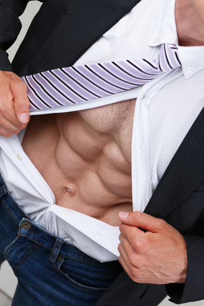 Man Opening His Shirt To Show His Abs