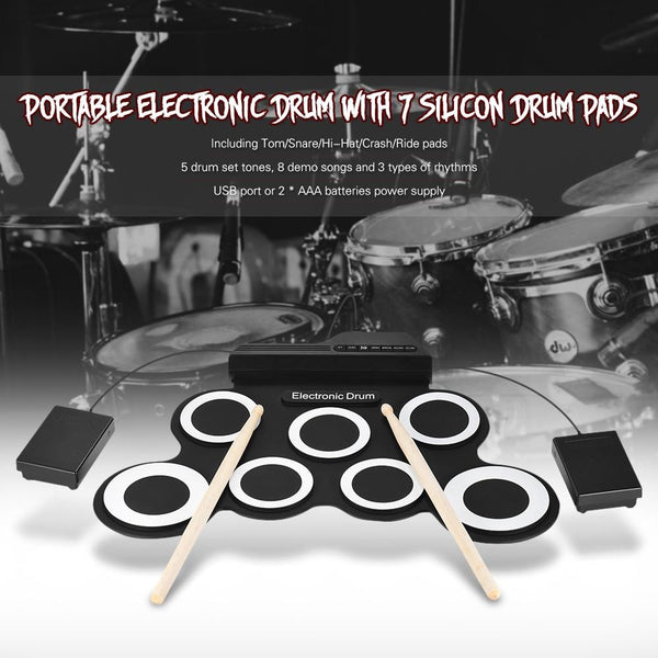 Roll-It-Up Electronic Drum Set