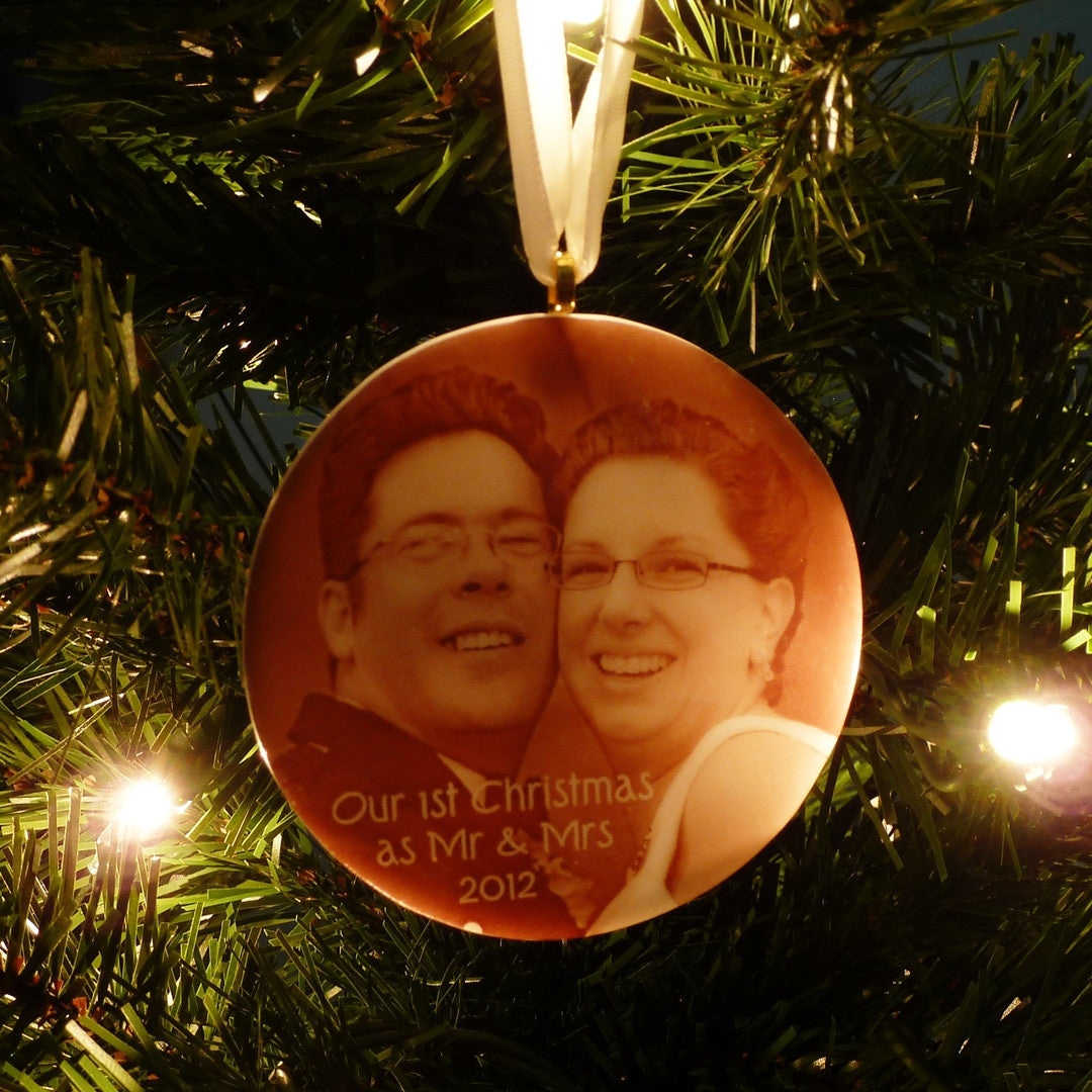 First married christmas ornament - First Married Christmas Ornament Custom Photo