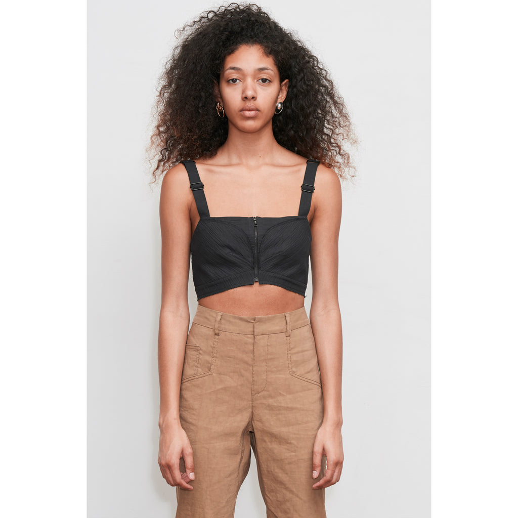 Black crop bustier top ONLY 3 LEFT