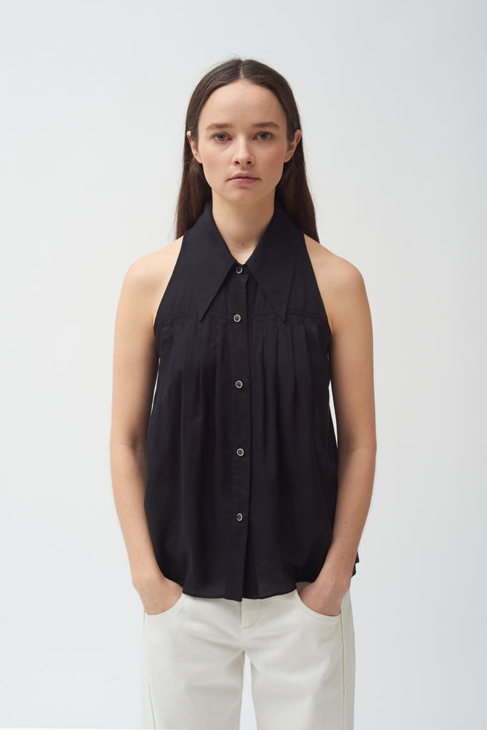 Sleeveless Shirt - Black