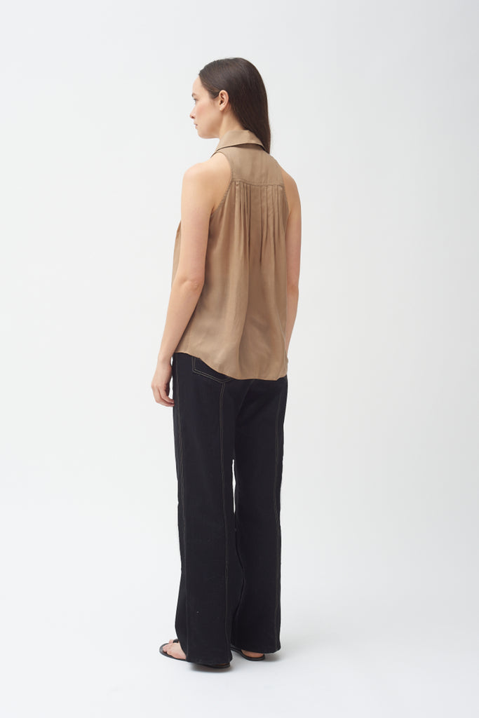 Sleeveless Shirt - Khaki