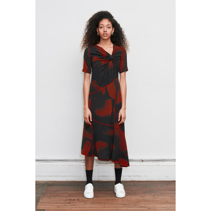 Astley Printed Twist silk t-shirt Dress