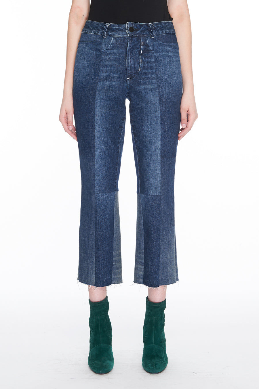 Blue Seamed denim jeans