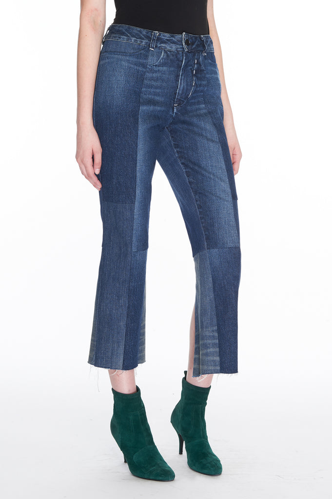 ZBlue Seamed denim jeans