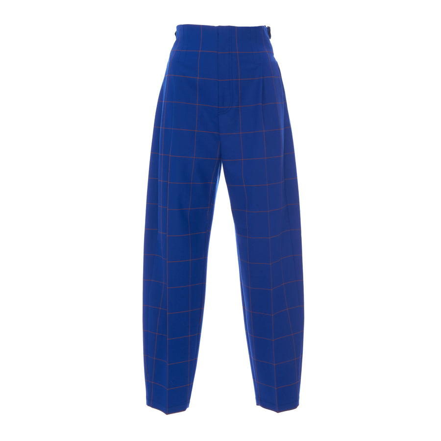 BLUE CHECK BUCKLE PANT- SOLD OUT
