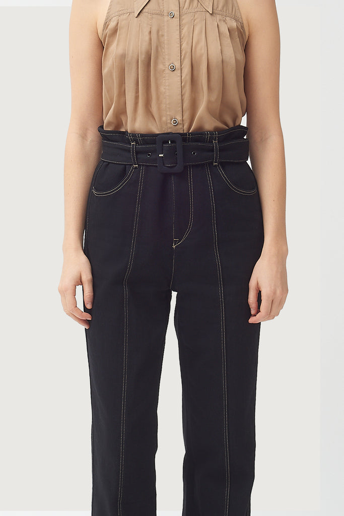 Seamed Leg Buckle Jean - Black- New Style- ONLY 1 LEFT!