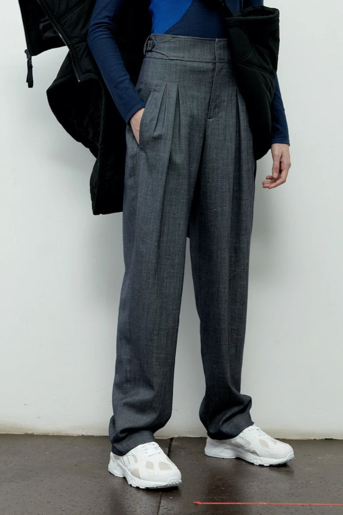 Side Buckle Wool Silk Pant - Colovos x Woolmark