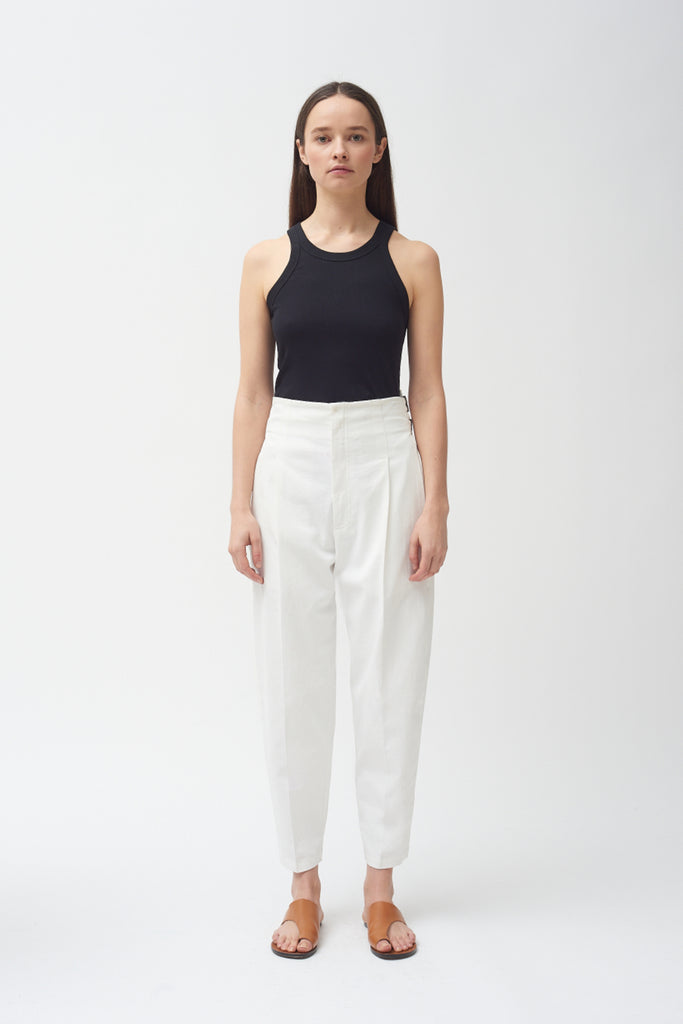 Buckle Pant - White - New Style