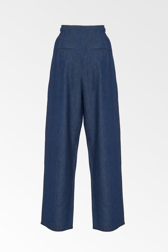 High waisted chambray pants- SALE
