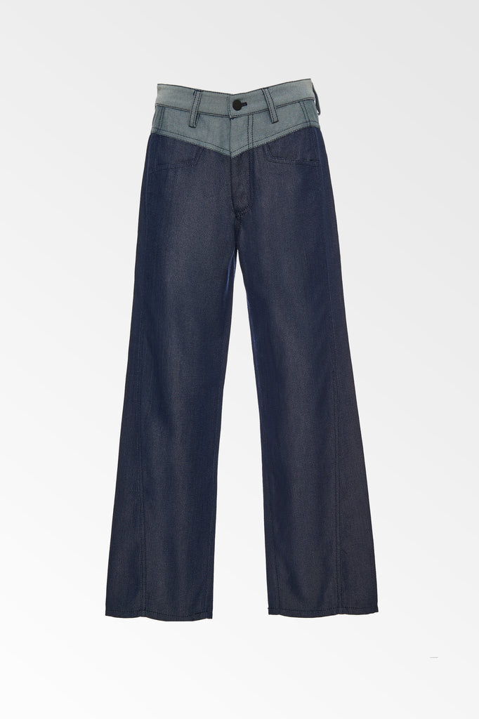 Curve Seam Denim Look Pant - Colovos x Woolmark