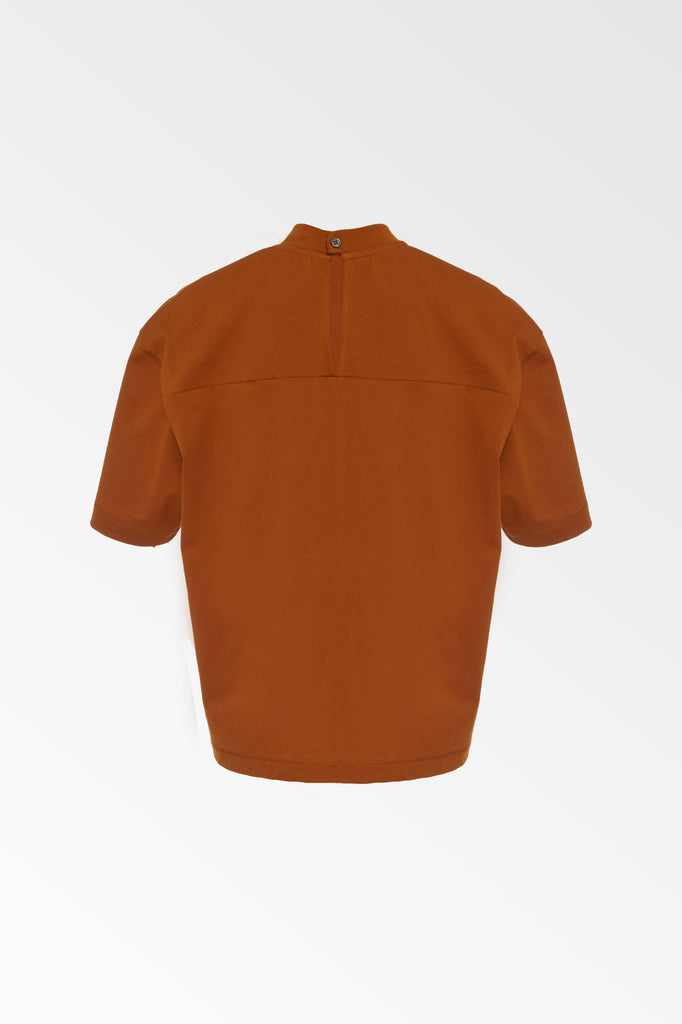 Copper Mock neck T-shirt