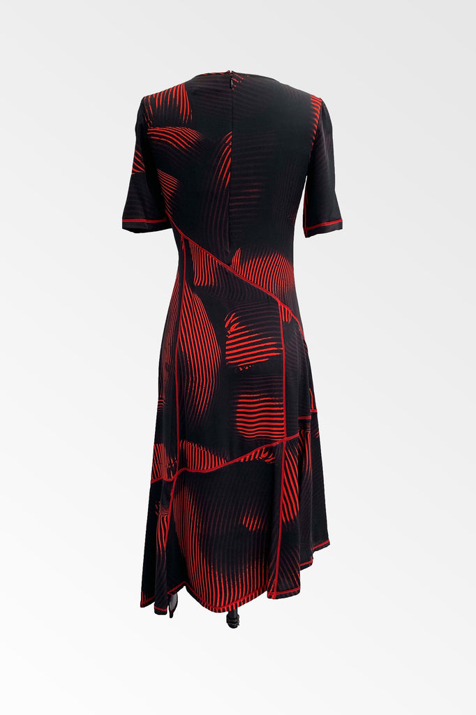 Printed Twist silk t-shirt Dress- ONLY 1 LEFT!
