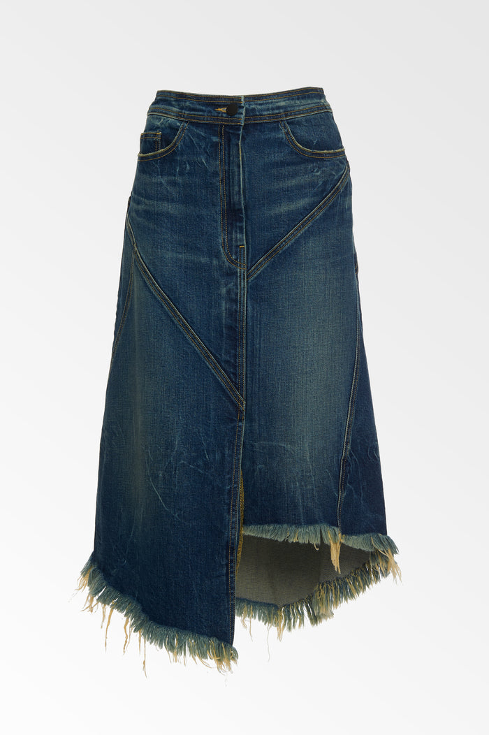 Denim Seam skirt in Medium Fade Wash- SALE