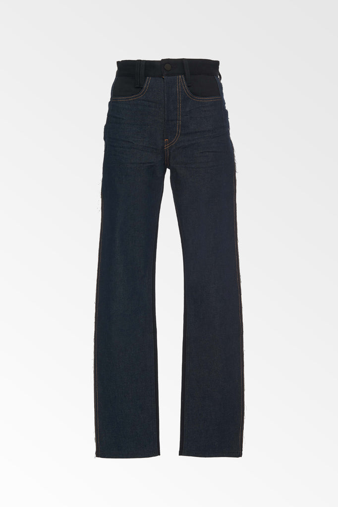 Two-Tone Blue/Black Straight leg jeans
