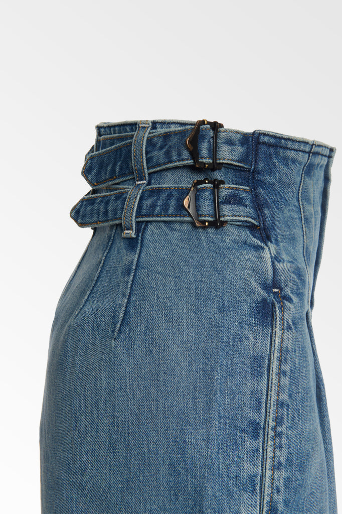 High waisted Vintage wash Buckle pant- LAST PAIR- SIGN UP FOR WAITLIST