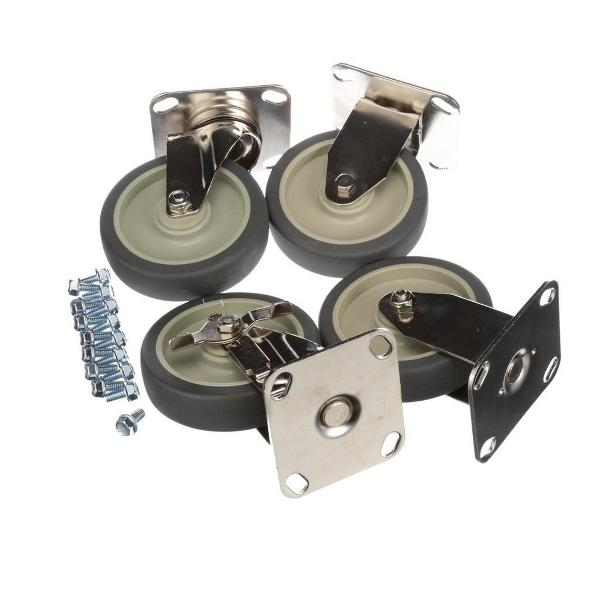 "Alto Shaam 4007 5"" Caster Package of 2 rigid & 2 swivel with brake"