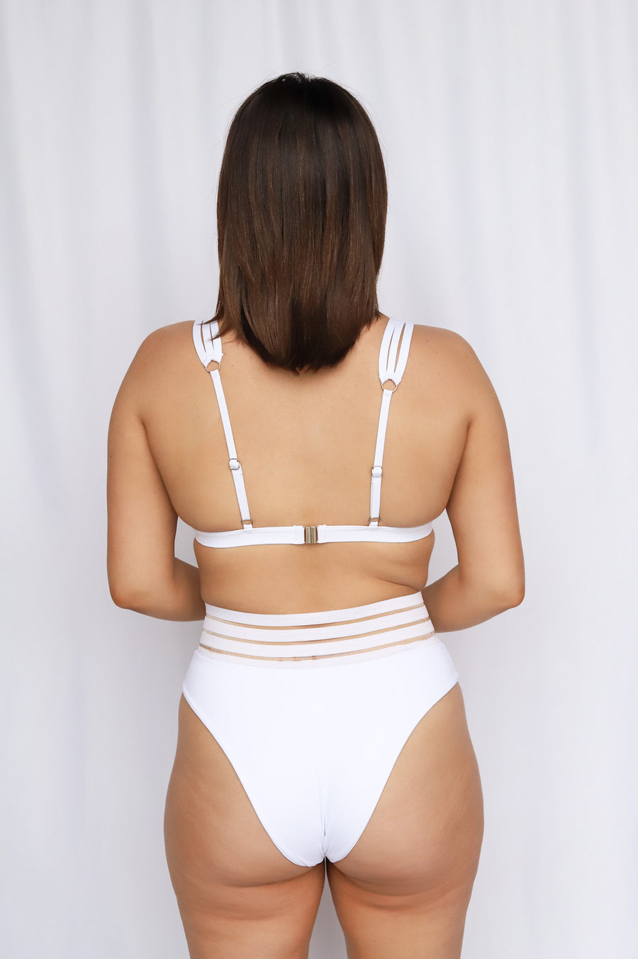 Dallas, Dallas boutique, DFW boutique, women's boutique, dallas women's boutique, dfw women's boutique, new, brand new, new arrivals, clothing, swim, swimsuit, white swimsuit, white cheeky bottoms, cheeky swim bottoms, mesh swim bottoms, honeymoon bikini, bachelorette bikini
