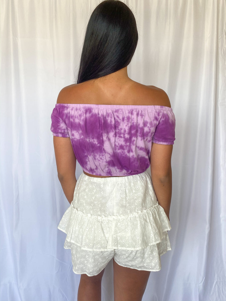 Stay Young Tie Dye Crop - Adeline