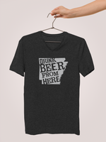 Arkansas Drink Beer From Here® - V-Neck Craft Beer shirt
