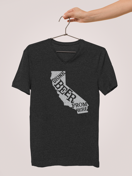 California Drink Beer From Here® - V-Neck Craft Beer shirt