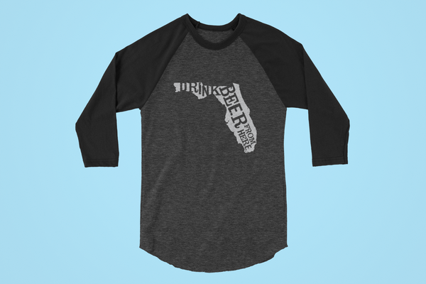 Florida Drink Beer From Here® - Craft Beer Baseball tee
